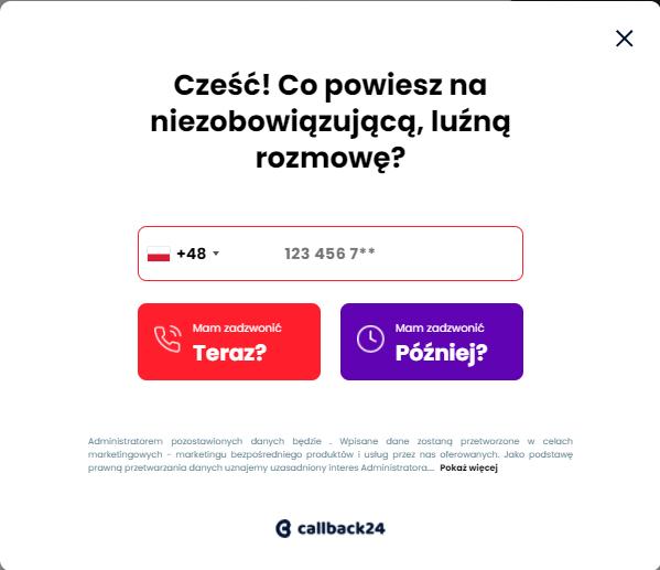 Callback24 - popup
